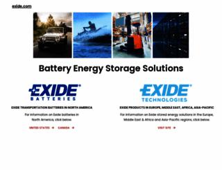 exide.com screenshot