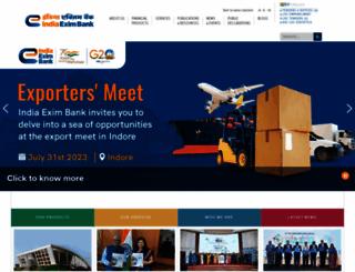eximbankindia.in screenshot