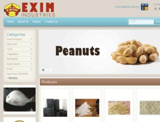 eximindustries.in screenshot