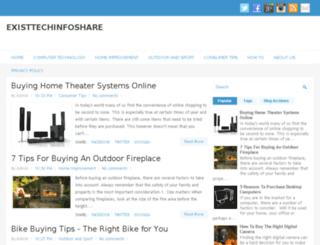 existtechinfoshare.info screenshot