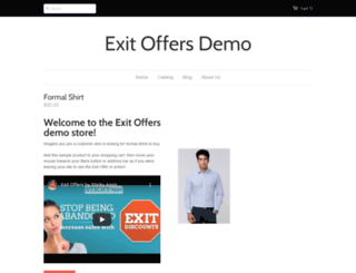 exit-offers-demo.myshopify.com screenshot