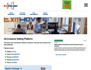 exitadviser.com screenshot