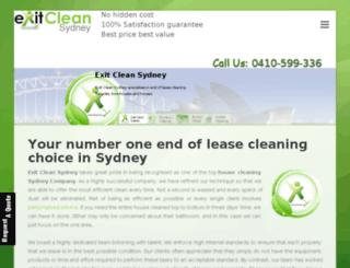 exitcleansydney.com.au screenshot