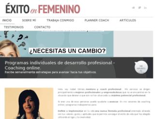 exitoenfemenino.com screenshot