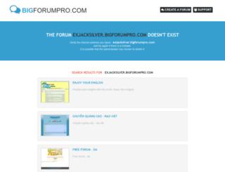 exjacksilver.bigforumpro.com screenshot