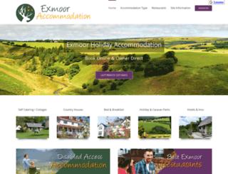 exmoor-accommodation.co.uk screenshot