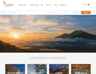 exotiqproperty.com screenshot