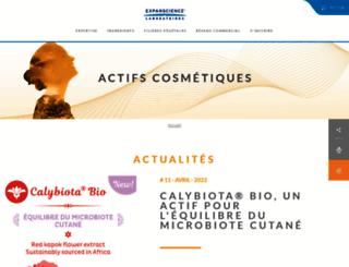 expanscience-ingredients.com screenshot