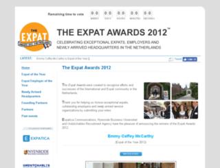 expatoftheyear.nl screenshot