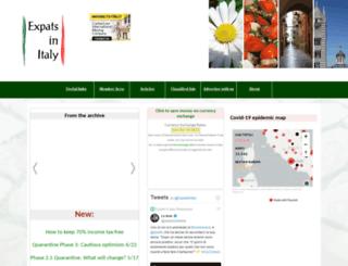 expatsinitaly.com screenshot