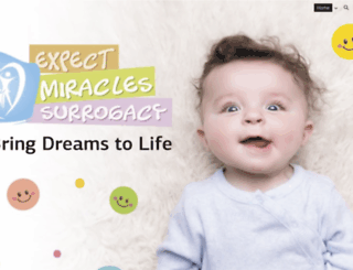 expectmiraclessurrogacy.com screenshot