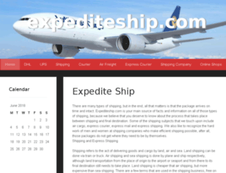 expediteship.com screenshot