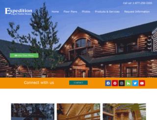 expeditionloghomes.com screenshot
