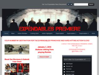 expendablespremiere.com screenshot