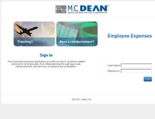 expense.mcdean.com screenshot