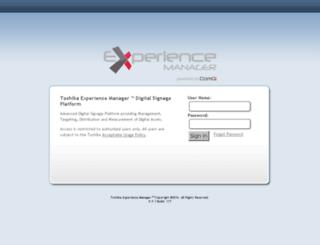 experience.toshiba.com screenshot