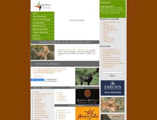experiencekenya.co.ke screenshot