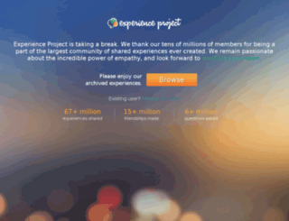 experienceproject.com screenshot