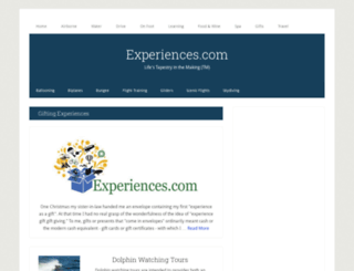 experiences.com screenshot
