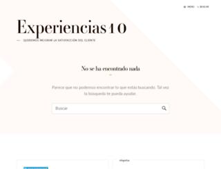 experiencias10.com screenshot