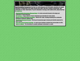 experimentalistsanonymous.com screenshot