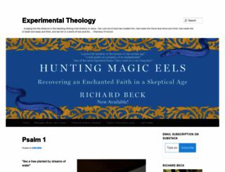 experimentaltheology.blogspot.com.au screenshot