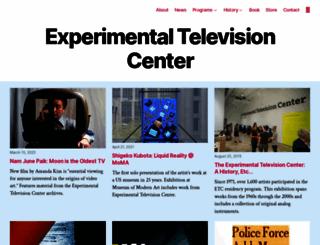 experimentaltvcenter.org screenshot
