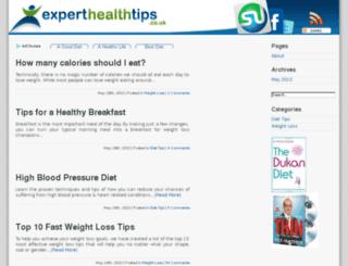 experthealthtips.co.uk screenshot