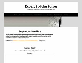 expertsudokusolver.com screenshot