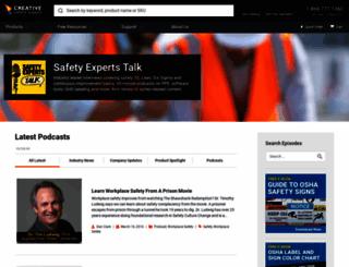 experttalk.creativesafetysupply.com screenshot