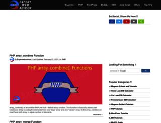 expertwebadvisor.com screenshot