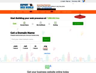expertwebworld.in screenshot