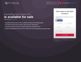 expireddomaintracker.com screenshot