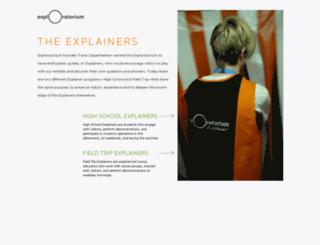 explainers.exploratorium.edu screenshot