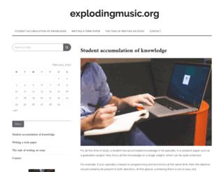 explodingmusic.org screenshot
