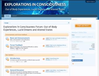 explorations-in-consciousness.com screenshot