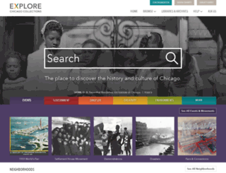 explore.chicagocollections.org screenshot