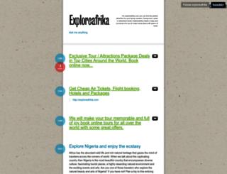 exploreafrika.tumblr.com screenshot