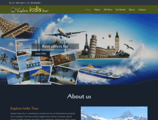 exploreindiatour.com screenshot