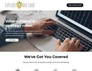 exploreoutloud.com screenshot