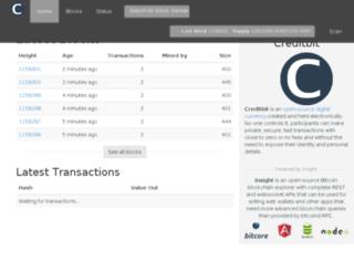 explorer.creditbit.org screenshot