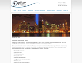 explorertours.net screenshot