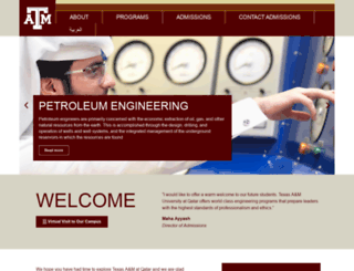 exploretamuq.com screenshot