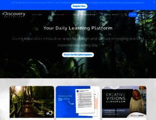 exploretheblue.discoveryeducation.com screenshot