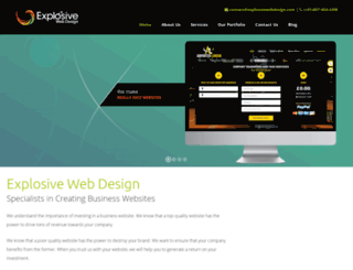 explosivewebdesign.com screenshot