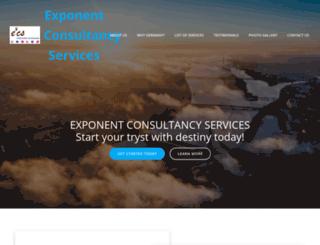 exponentconsultants.com screenshot