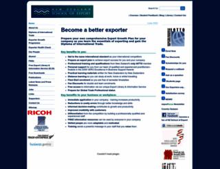 export.ac.nz screenshot