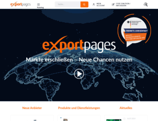 exportpages.de screenshot