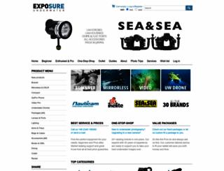 exposureunderwater.com screenshot