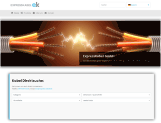 express-kabel.de screenshot